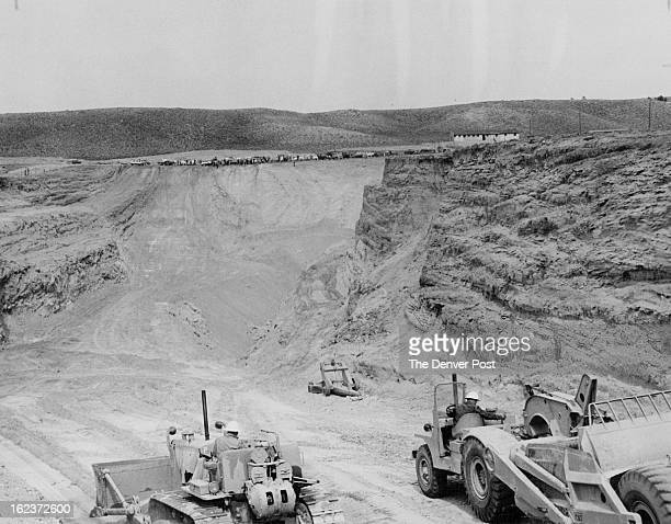 APR 30 1956 The largest excavation in the Gas Hills is this openpit mine owned by TwoStates Uranium Co Miners are removing 100 feet of overburden...