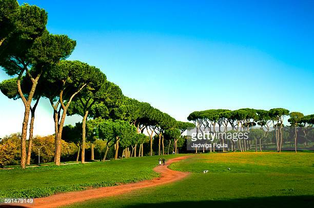 The largest landscaped public park in Rome, Italy.