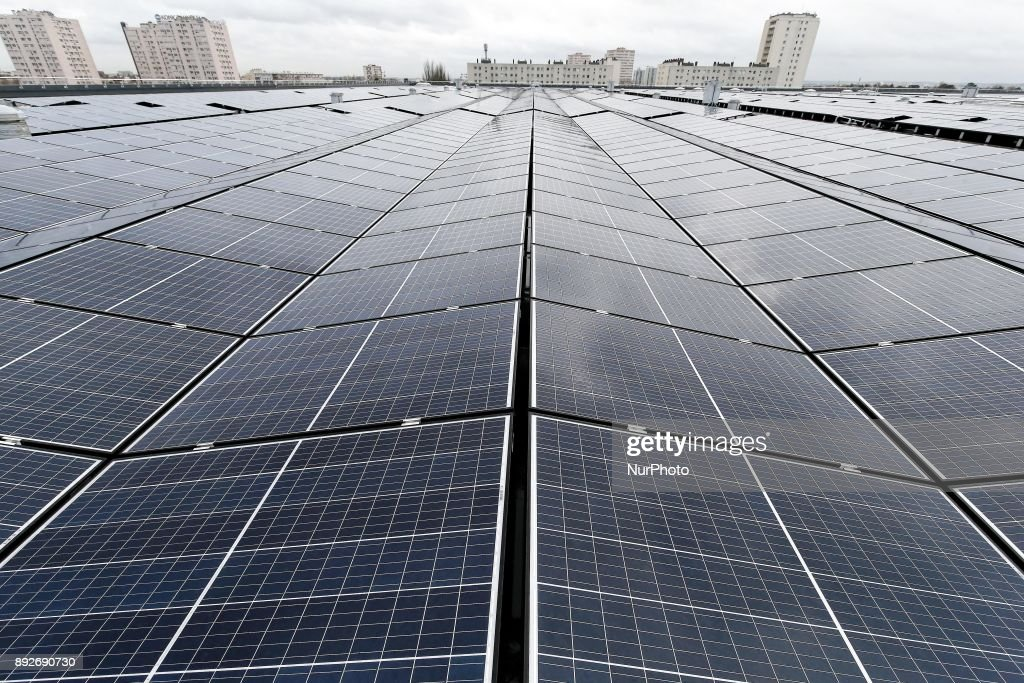 Inauguration of the largest rooftop photovoltaic power station of the region Ile-de-France : Nieuwsfoto's