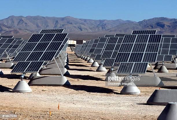 the largest photovoltaic solar power plant in the united states. - uss lake erie cg 70 stock pictures, royalty-free photos & images