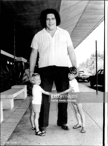The Largest picture of the day would have to be 'Andre The Giant' 31 the French Wrestler 7 foot 5 inches and 35 stone Andre who visited Australia...