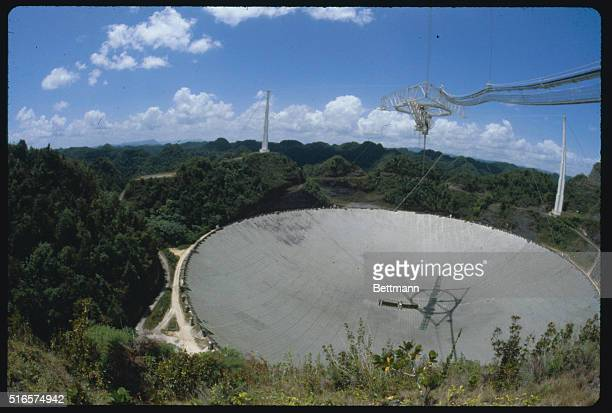 The largest radio/telescope in the world at Arecibo Observatory located in a mountainous jungle area near San Juan Puerto Rico | Location Near San...