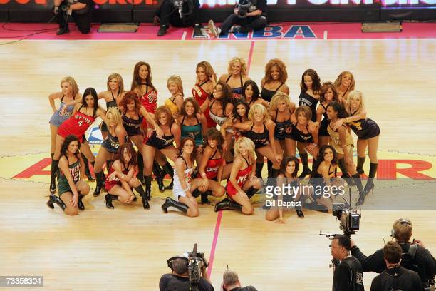 The Las Vegas AllStar Dance Team performs during the Footlocker ThreePoint Shootout at NBA AllStar Weekend on February 17 2007 at the Thomas Mack...