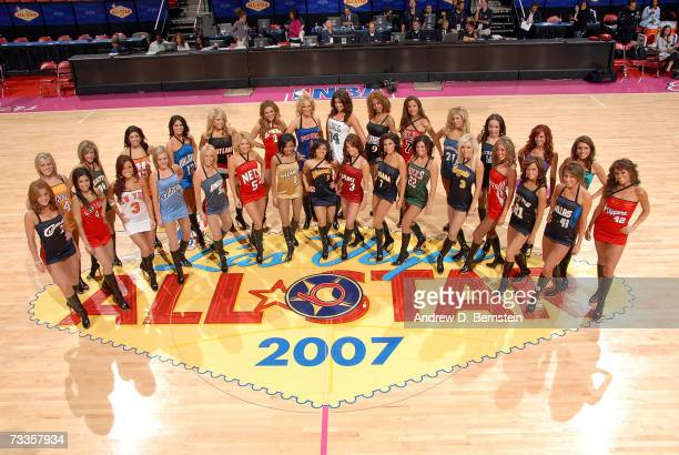 The Las Vegas AllStar dance team poses for a photo before the Haier Shooting Stars at NBA AllStar Weekend at the Thomas Mack Center February 17 2007...