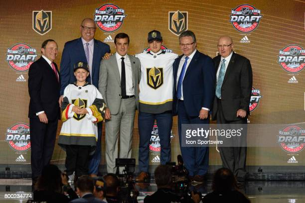 The Las Vegas Golden Knights select defenseman Erik Brannstrom with the 15th pick in the first round of the 2017 NHL Draft on June 23 at the United...