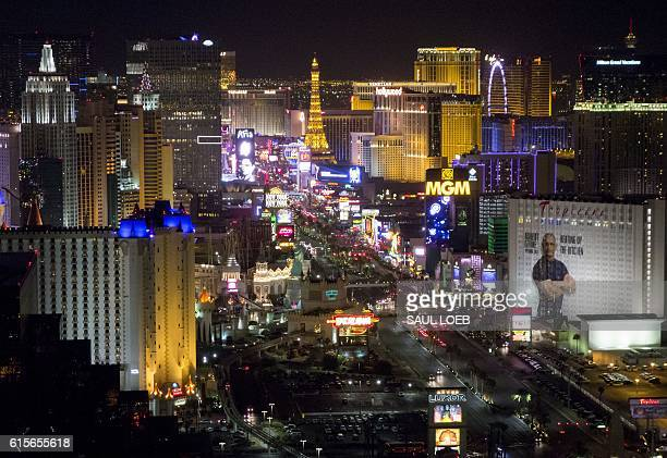 The Las Vegas Strip and skyline including various hotels and casinos are seen at night in Las Vegas Nevada in this photograph taken October 18 2016 /...