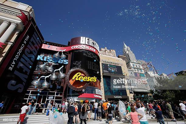 The Las Vegas Strip became a whole lot sweeter as the new Hershey's Chocolate World retail experience opened at New YorkNew York Hotel Casino on June...
