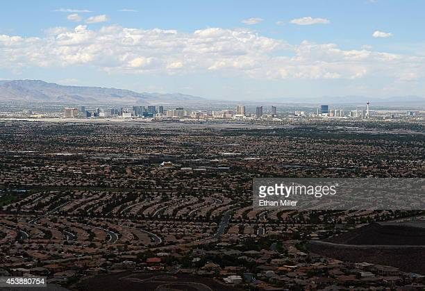 The Las Vegas Strip is seen from Ascaya, Nevada's premier luxury home development, on August 20, 2014 in Henderson, Nevada. Ascaya, featuring 313...