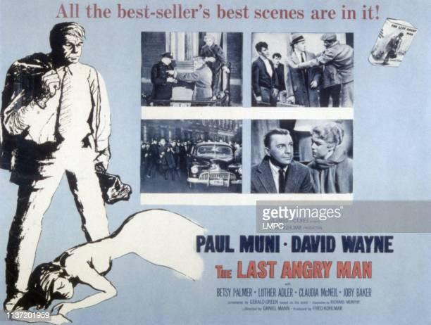 The Last Angry Man poster Paul Muni David Wayne Betsy Palmer 1959