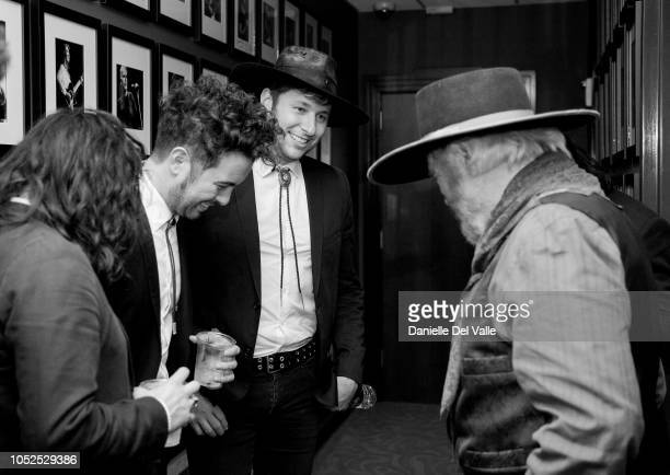 """The Last Bandoleros and Michael Martin Murphey take photos backstage during """"Austinology Alleys of Austin"""" at Franklin Theater on October 18, 2018 in..."""