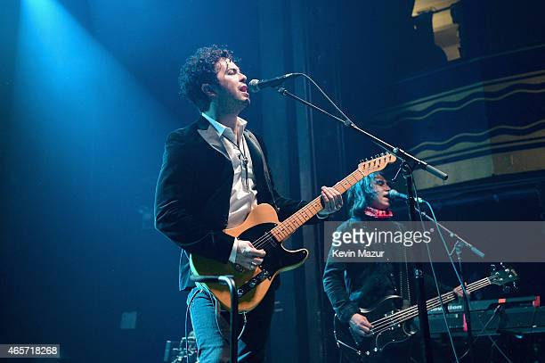 The Last Bandoleros perform on stage during Cherrytree Records' 10th Anniversary Celebration at Webster Hall on March 9, 2015 in New York City.