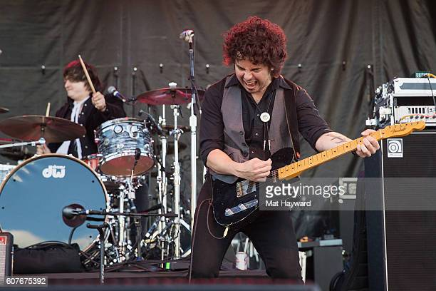 The Last Bandoleros perform on stage during the Hometown Throwdown country music festival hosted by 100.7 The Wolf at Enumclaw Expo Center on...