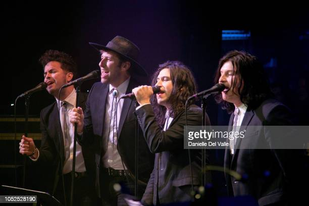 """The Last Bandoleros perform onstage during Michael Martin Murphey's """"Austinology Alleys of Austin"""" at Franklin Theater on October 18, 2018 in..."""