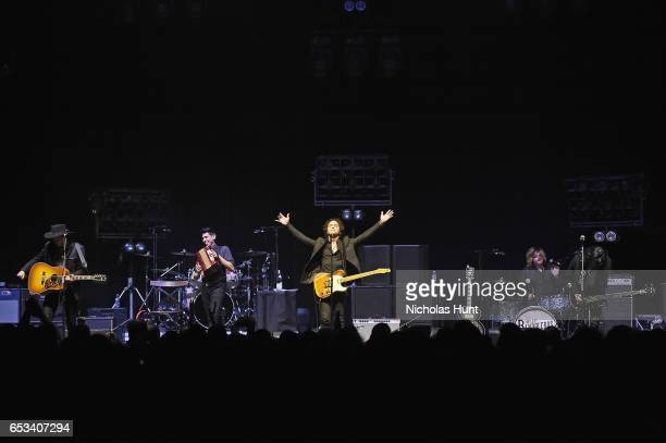 """The Last Bandoleros perform onstage during the Sting """"57th & 9th"""" World Tour at Hammerstein Ballroom on March 14, 2017 in New York City."""