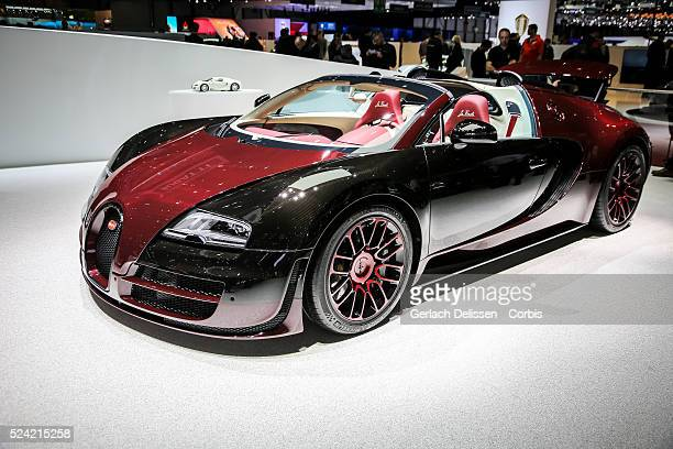 The last Bugatti Veyron 'La Finale' on display at the 85th Geneva International Motor Show March 4th Switzerland