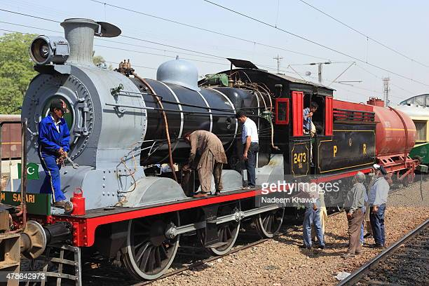 The last checkup before steamed off. Few years before The Last steam safari was arranged from Lahore Cant Station to Changa Manga Park, I was the...