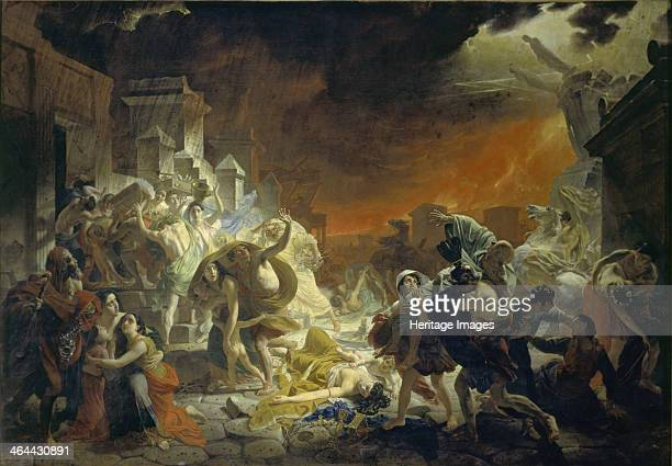 The last Day of Pompeii, 1833. Found in the collection of the State Russian Museum, St. Petersburg.