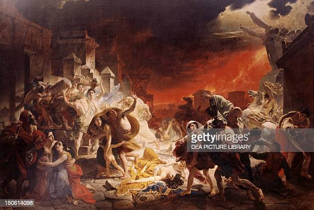 The last days of Pompeii August 24 by Karl Brjullov oil on canvas 4565x651 cm Flavian dynasty Italy 1st century