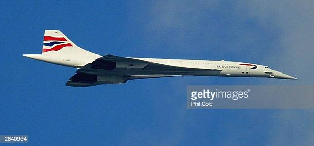 The last ever British Airways commercial Concorde flight is seen October 24 in London The world's only supersonic passenger aircraft which has been...