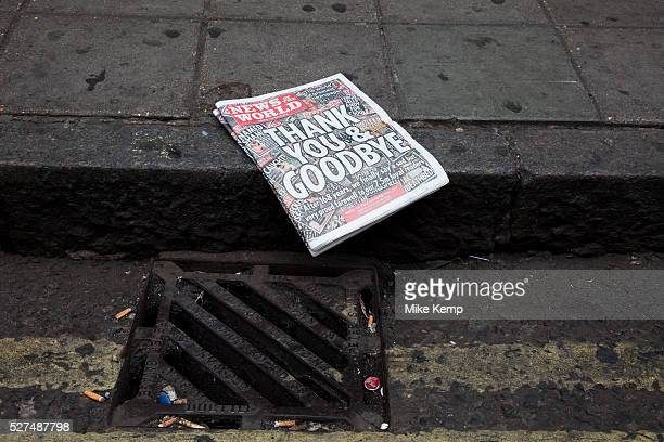 The last ever copy of tabliod newspaper News of The World in the gutter where many people believe it belonged Sunday 10th July 2011 saw the end for...