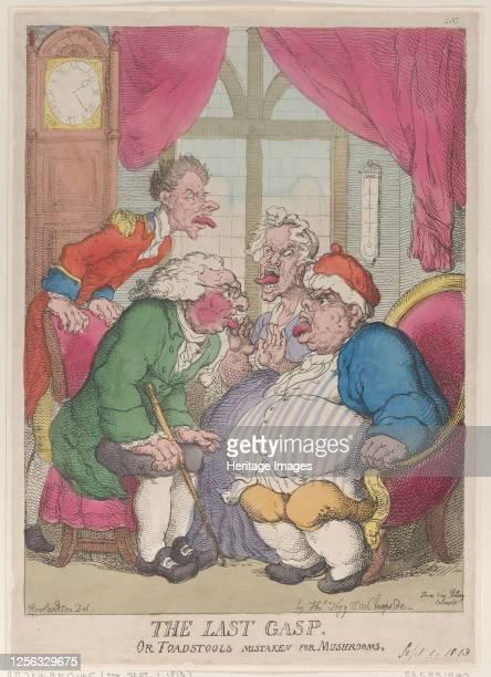 The Last Gasp, or Toadstools Mistaken for Mushrooms, September 1, 1813. Artist Thomas Rowlandson.