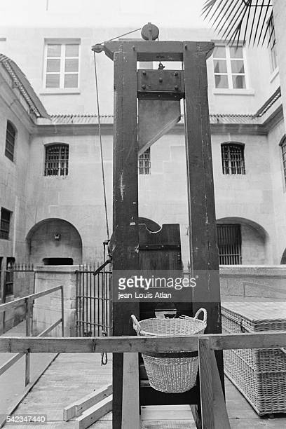 The last guillotine in Paris sits in the courtyard of the Musee de la Conciergerie