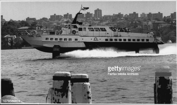 The last hydrofoil trip was made by the Curl Curl March 19 1991