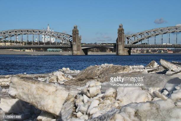 the last ice on the neva - last stock pictures, royalty-free photos & images