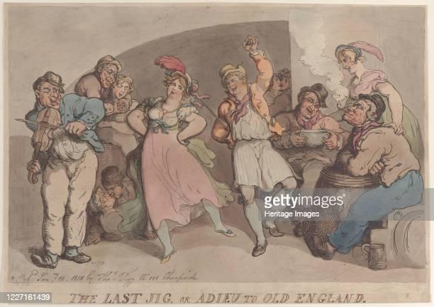 The Last Jig or Adieu to Old England January 10 1818 Artist Thomas Rowlandson