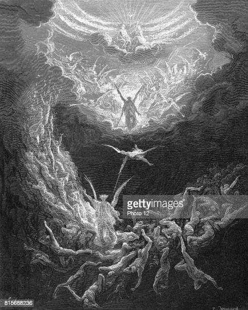 The Last Judgement Bible Book of Revelation 2011 Illustration by Gustave Dore 18656 Wood engraving