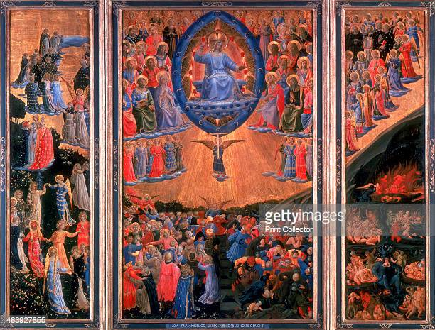 'The Last Judgement' c14201455 Triptych showing Heaven left Hell right and Christ sitting in judgement in the central panel