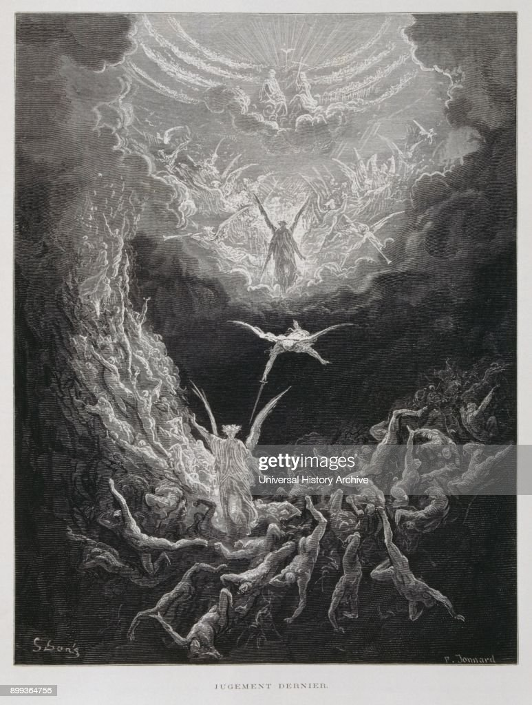 The last Judgement, Illustration from the Dore Bible 1866. : News Photo