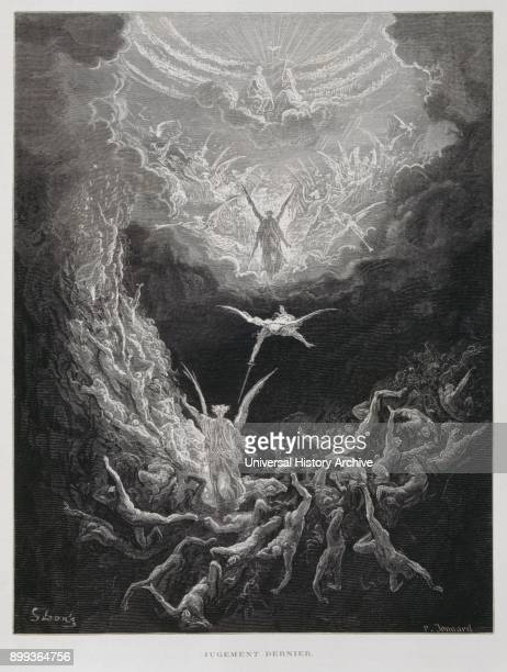 The last Judgement Illustration from the Dore Bible 1866 In 1866 the French artist and illustrator Gustave Doré published a series of 241 wood...