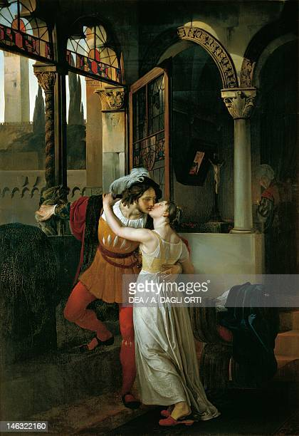 The Last Kiss of Romeo and Juliet by Francesco Hayez , oil on canvas, 291x202 cm.