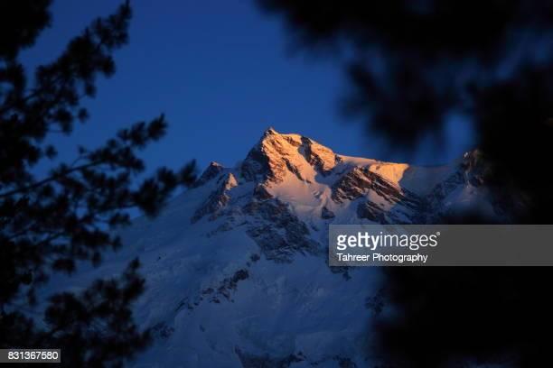 The Last Light on Nanga Parbat Mountain