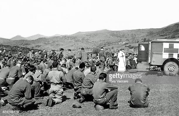 The last mass prior to departure for France World War II for the Normandy Landings US Army Wales World War II June 1944