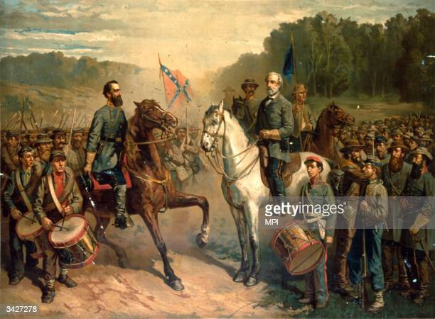 The last meeting between the Confederate Army Generals Stonewall Jackson and Robert E Lee Jackson was shot and fatally wounded by his own men during...