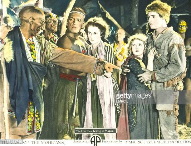 The Last Of The Mohicans lobbycard from left Theodore Lorch Harry Lorraine Barbara Bedford Lillian Hall Albert Roscoe 1920