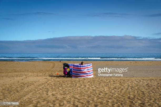 The last of the Summer sunshine falls on the beach on September 20, 2020 in South Shields, United Kingdom. Since easing its first nationwide lockdown...