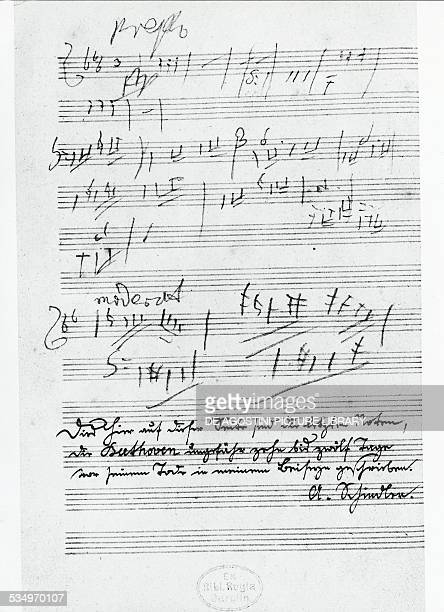 The last page of music written by the German composer Ludwig van Beethoven Berlin Staatsbibliothek Zu Berlin Preussischer Kulturbesitz