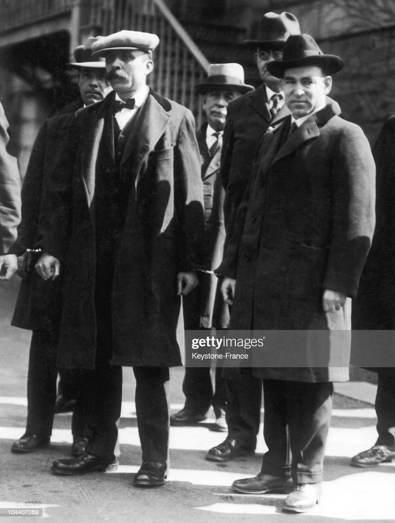 Sacco And Vanzetti Prior To Entering The Penitentiary At Charlestown 1927 : News Photo