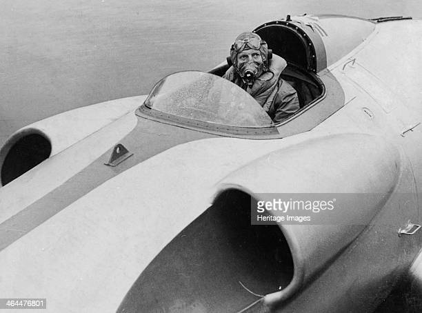 The last picture of John Cobb seen at the helm of 'Crusader' Scotland September 1952 John Cobb attempted the waterspeed world record on Loch Ness on...