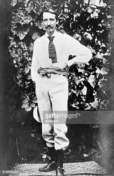 The last portrait of Louis Stevenson taken in Samoa in 1894 Full length photograph