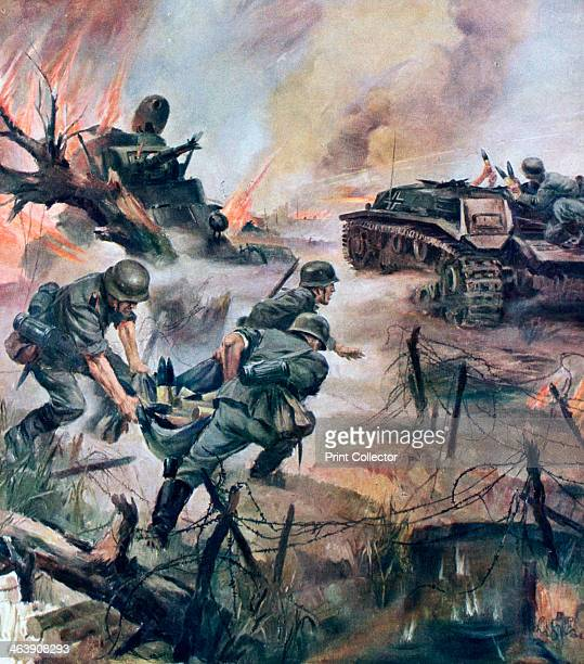 The Last Second' 1941 I picture showing the difficulties of supplying ammunition at the Russian front A print from Signal November 1941 Signal was a...
