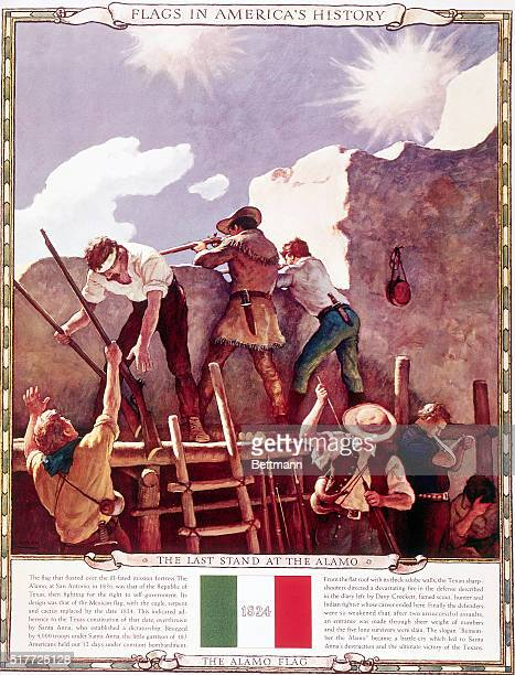 The Last stand at the Alamo Undated lithograph ***** NO