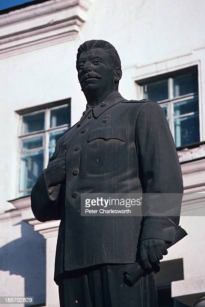 The last statue of Joseph Stalin in the Mongolian capital, Ulan Bator. The statue was torn down on the 2nd of February 1990 because of public...