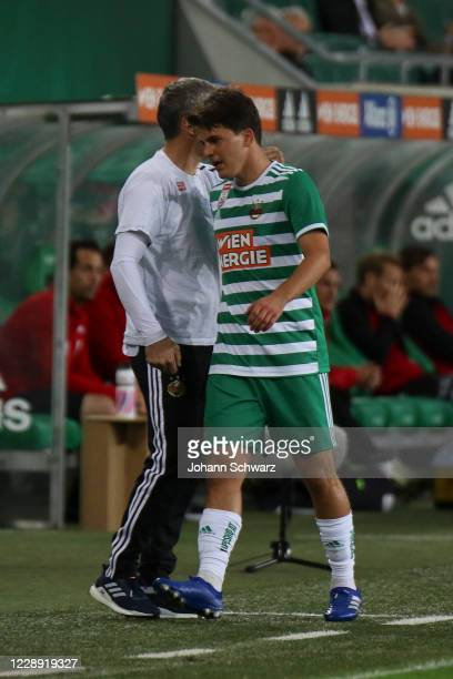 The last substitution at Rapid by Thomas Murg of Rapid in the 77th minute during the tipico Bundesliga match between SK Rapid Wien and LASK at...