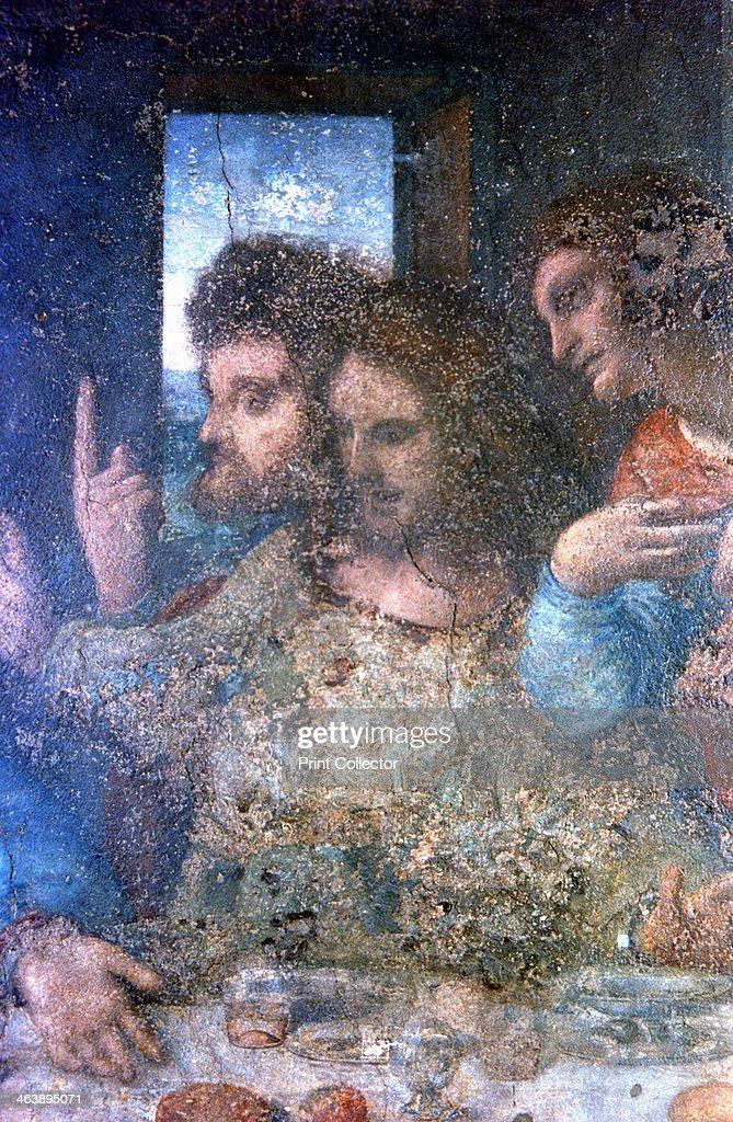 the last supper detail 1495 1498 artist leonardo da vinci