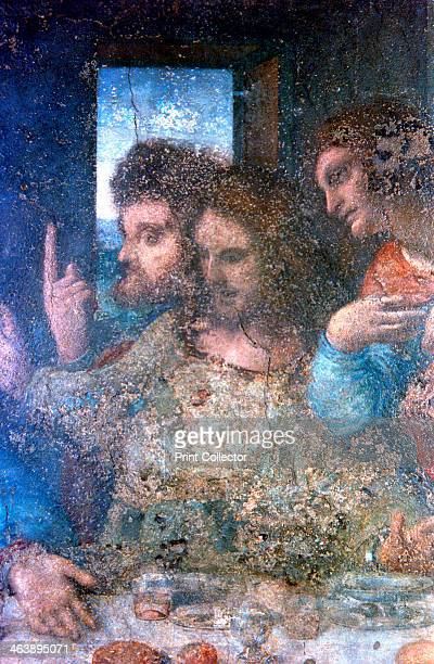 'The Last Supper' 14951498 The apostles James Thomas and Philip The painting is a mural commissioned by Lodovico Sforza Duke of Milan for the...