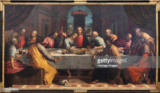 The Last Supper, 1604. Found in the Collection of Museo Civico, Sansepolcro. Artist Cantagallina, Remigio .